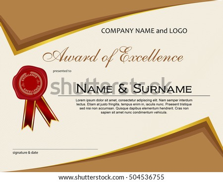 Royalty free award of excellence with wax seal and 506955604 stock award of excellence with wax seal and ribbon 504536755 altavistaventures Image collections