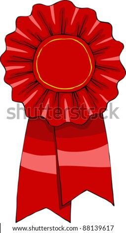 Award on a white background, vector illustration