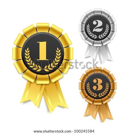 Shutterstock Award ribbon. Vector.