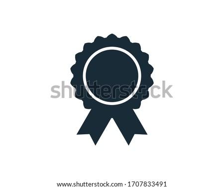 Award Rosette Medal Banner Icon Vector Logo Template Illustration Design Stockfoto ©