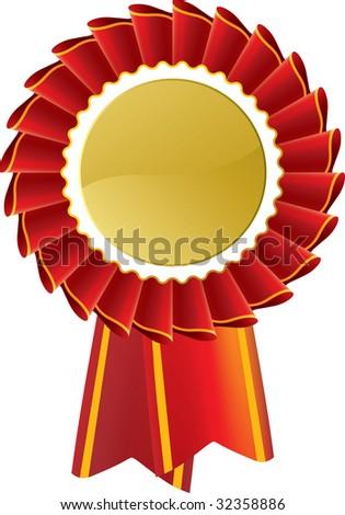 Award seal rosette. Vector icon design, insert your logo or type