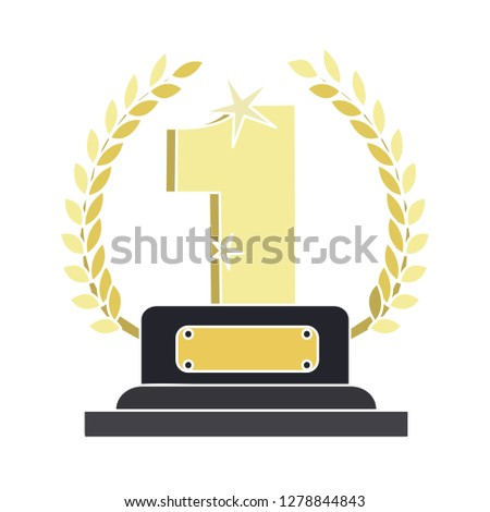 award winner icon - winner flat icon- win medal icon - award illustration. reward sign symbol. winner vector - achievement sign, first  place isolated, winning competition vector. success icon