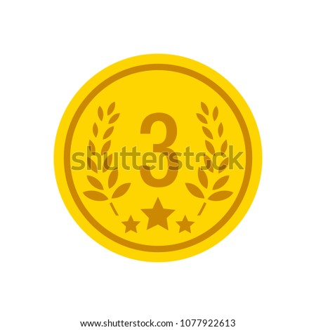 award winner - Third place prize, vector competition badge #1077922613