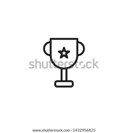 Award winner, winner cup vector icon. Elements for mobile concepts and web apps.