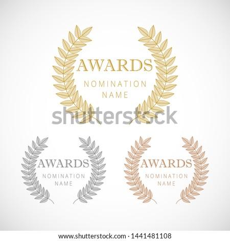 awards logotype set isolated