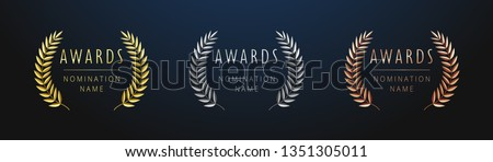awards logotype set isolated