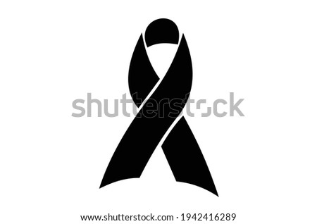 Awareness or remembrance ribbon. also can symbolize mourning or honoring a deceased person.Vector EPS 10.