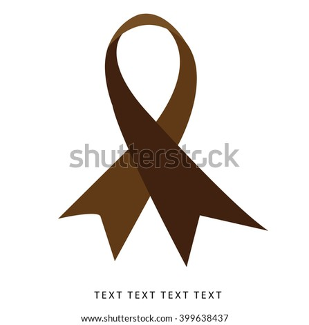 Awareness ribbon as symbol of Multiple Myeloma,