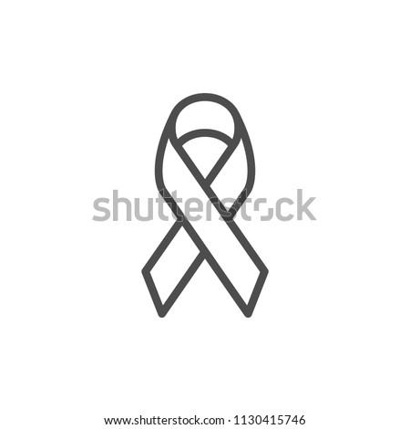 Awareness ribbon line icon