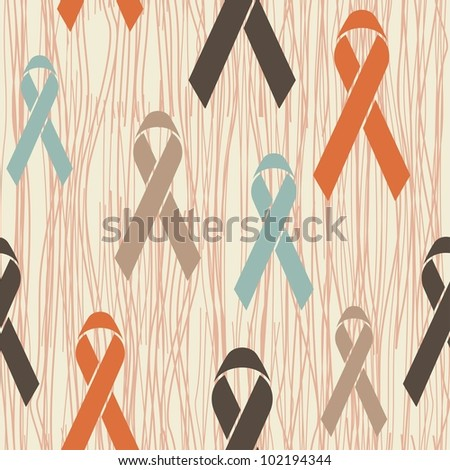awareness ribbons seamless pattern