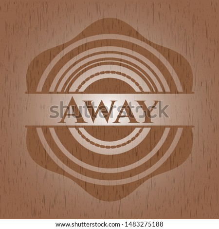 Away wood signboards. Vector Illustration.