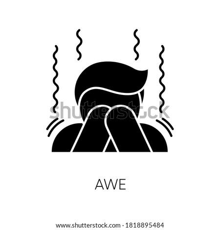 awe black glyph icon human