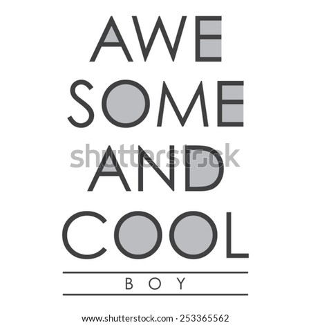 awesome and cool typography  t