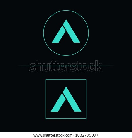Awesome Bold Modern Future Letter A Logo Design