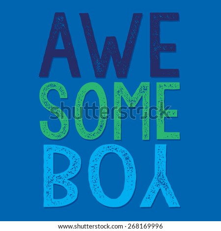 awesome boy typography  t shirt