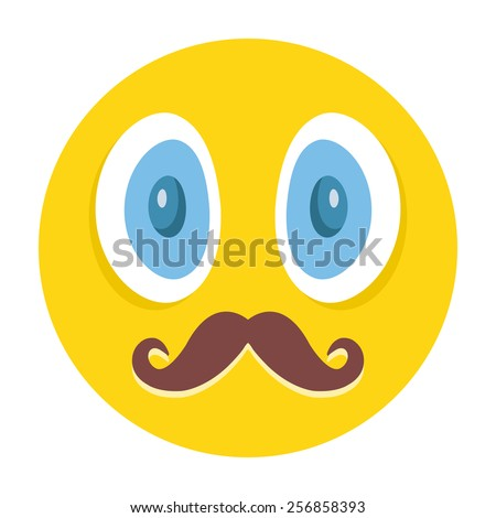 awesome emoticon with mustaches