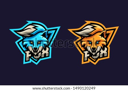 awesome fox illustration with two option color