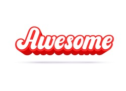 Awesome lettering text. Vector illustration.