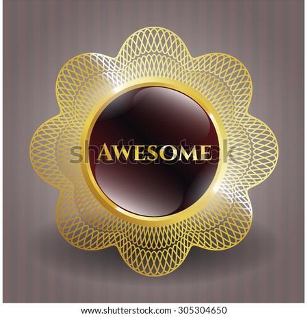 Awesome shiny badge