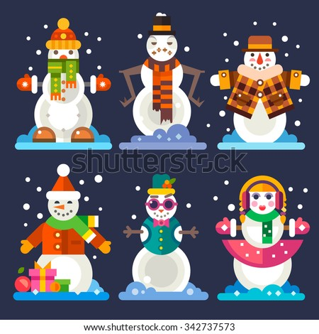 awesome snowmen in different