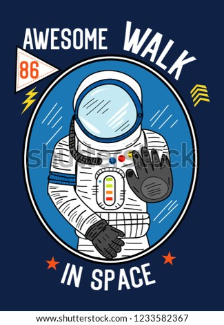 awesome walk in space,t-shirt design