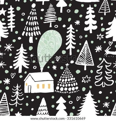 awesome winter seamless pattern