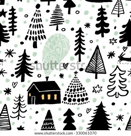 awesome winter seamless pattern
