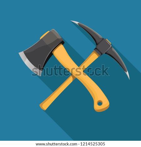 axe and pickaxe