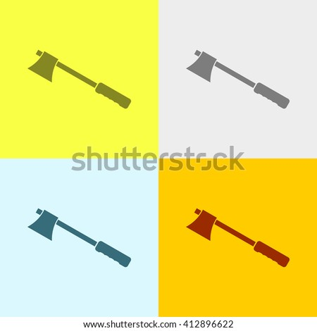 axe icon on four different