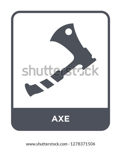 axe icon vector on white background, axe trendy filled icons from Camping collection, axe vector illustration