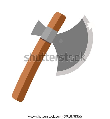 axe steel isolated and sharp