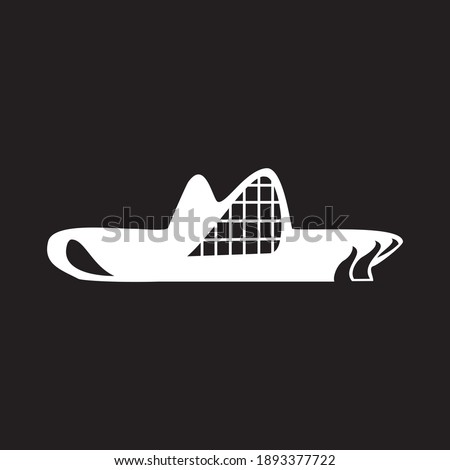 Azerbaijan baku vector illustration. Black background