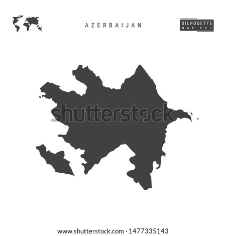 Azerbaijan Blank Vector Map Isolated on White Background. High-Detailed Black Silhouette Map of Azerbaijan.