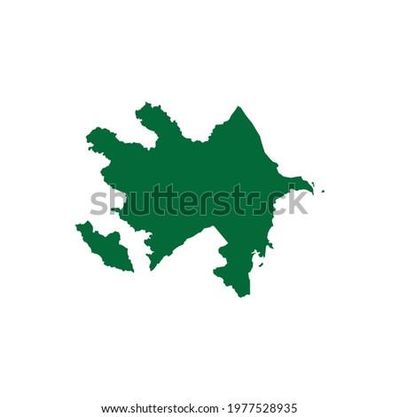 Azerbaijan Map. Azerbaijan Map Illustration. Azerbaijan plan chart vector