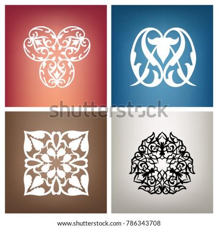 Azerbaijan ornament, national pattern
