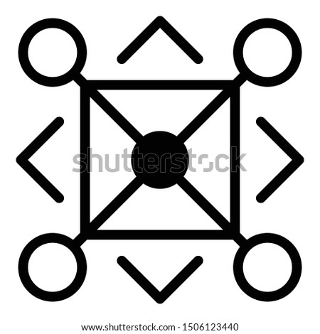 Aztec alchemy icon. Outline aztec alchemy vector icon for web design isolated on white background