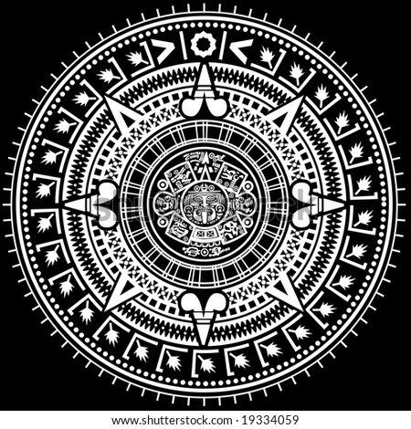 Stock Vector Aztec Calendar The Mayan Calendars Webexhibits