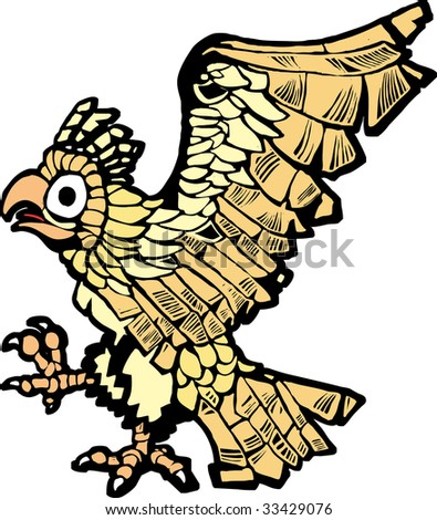Aztec eagle that symbolized the founding of mexico city. - stock ...