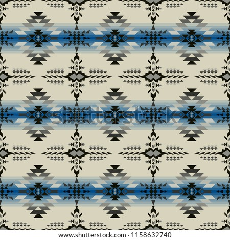 Aztec geometric seamless pattern. Native Southwest American, Indian, Navajo print. Ethnic design wallpaper, fabric, cover, textile, weave, wrapping.