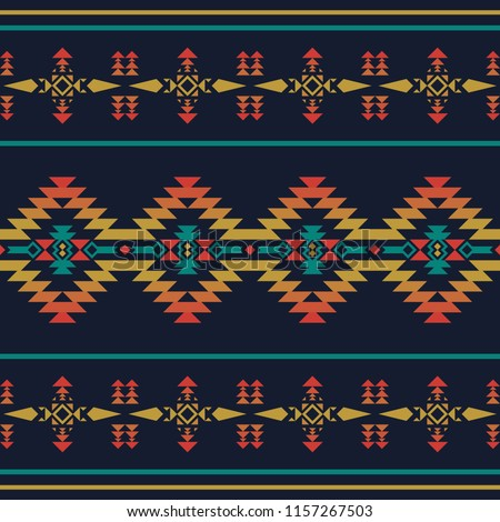Aztec geometric seamless pattern. Native southwest american, indian print. Ethnic design wallpaper, fabric, cover, textile, weave, wrapping.