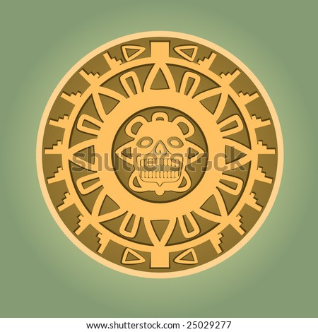Aztec gold coin