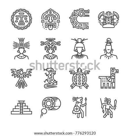 aztec icon set included the