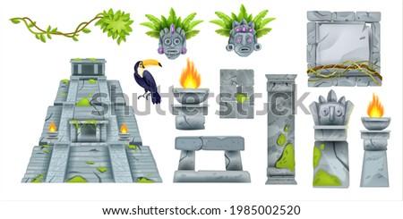 aztec maya ancient culture set