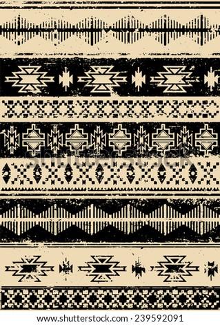 aztec navajo indian carpet...
