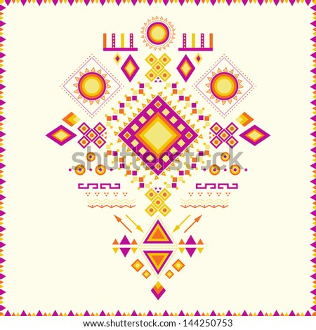 Aztec pattern. Can be used to fabric design, printing on T-shirts, bags, postcards, decorative paper, web design, etc.