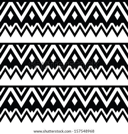 Aztec seamless pattern  tribal black and white backgroundBlack And White Aztec Pattern Background