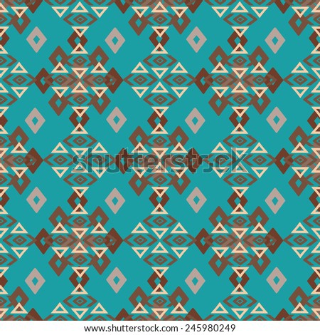 aztec tribal art colorful