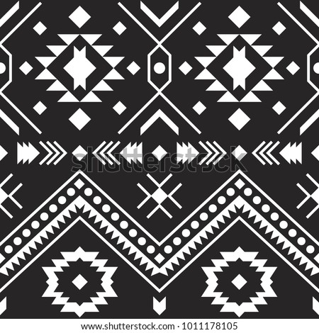 Aztec Tribal Pattern Boho Style Vector Illustration EZ Canvas Interesting Aztec Tribal Pattern