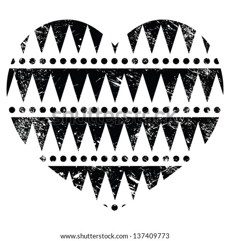 Aztec Designs And Patterns Aztec Tribal Pattern Heart