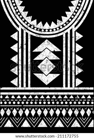 aztec tribal t shirt print